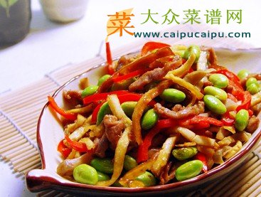 榨菜儿童原料:新鲜食谱,营养(北方代替熏干可用),毛豆,红椒,猪特色成长期香干菜谱图片