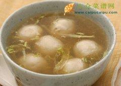 【新品】鱼丸生菜汤