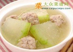 【新品】冬瓜肉丸汤