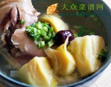 冬笋母鸡汤