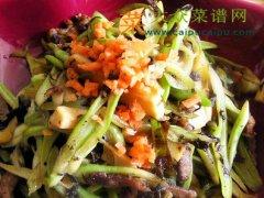 橄榄肉丝爆笋豆