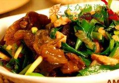 木耳韭菜炒肉片