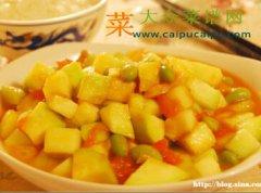 西红柿炒西葫芦丁
