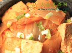 泡菜炖豆腐