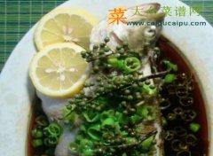双椒柠香蒸鲈鱼