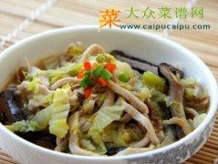黄芽菜烧肉丝